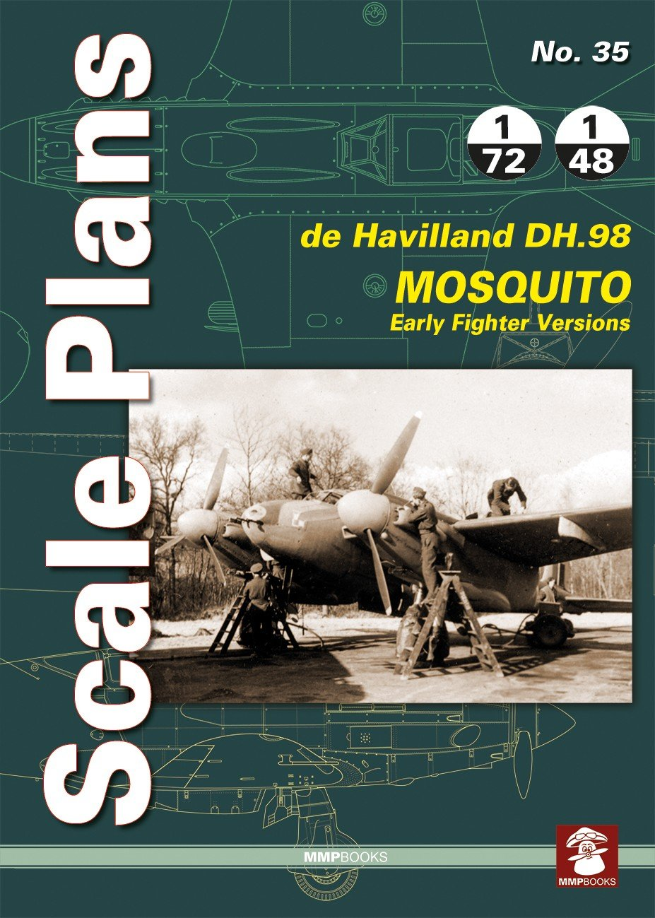 Scale Plans No. 35. De DH.98 Havilland Mosquito. Early Fighter Versions